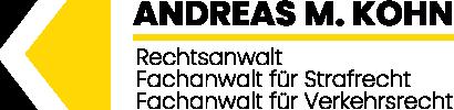 Logo von Anwaltskanzlei Andreas M. Kohn - Fachanwalt für Straf- und Verkehrsrecht